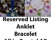 Reserved for mishi70 Custom made to order Bracelet and 2 Anklets in 14k gold filled and crystals Hearts n Flowers n Round crystals