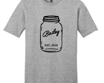 Custom Mason Jar - Personalized T-Shirt