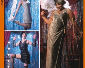 Simplicity Pattern 5400 - Flapper Costume Sewing Pattern - Sz 6-8-10-12 - OOP