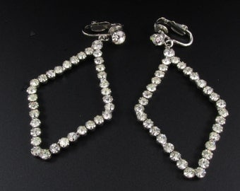 Rhinestone Earrings, Long Rhinestone Earrings. Large Rhinestone Earrings, Statement Earrings, Large Earrings