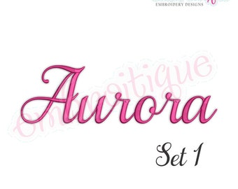Aurora Set 1 Monogram Font  - BX files included- Instant Download Machine embroidery design
