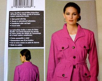 Vogue V8732 Claire Shaeffer's Custom Couture Collection Misses Jacket & Belt Size 8-14 UNCUT