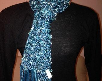 Hand Knit OOAK scarf