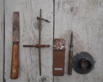 Salvaged Found Objects Assemblage Steampunk Project Vintage Industrial Tools