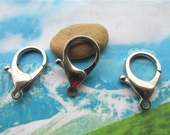 high quality 10pcs 35x20mm Silver large lobster clasps--keychain clasps