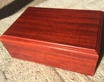 African Padauk small treasure box