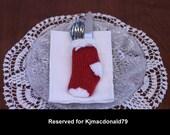 Reserved for Kjmacdonald79 Handknitted Christmas Flatware Stocking