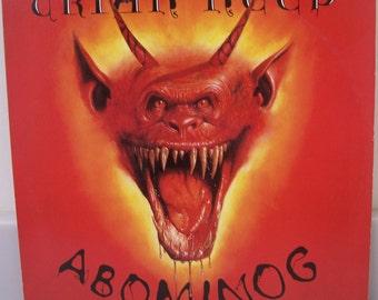 Uriah Heep 1982 LP Abominog Classic Rock Music Record Album, Mick Box, Bob Daisley, John Sinclair, Peter Goalby, Lee Kerslake