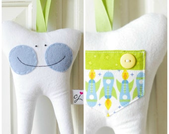 Tooth Fairy Pillow for a Boy (Rocket)-READY TO SHIP