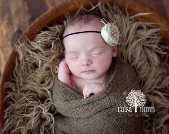 STRETCH WRAP- Soft Brown--Newborn Photo Prop- photography