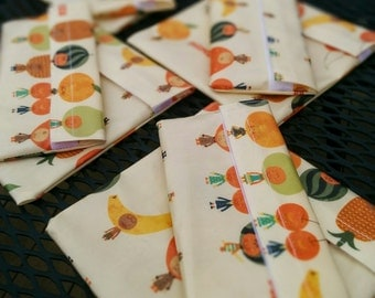 Sandwich and snack bags/pouches made with laminated cotton - Bubu & Pupu