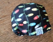 Christmas bulbs , one size pocket diaper AWJ lined, organic bamboo insert