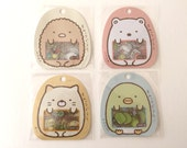 New-Sumikko Gurashi Clear Sticker /Seal bits-Each bag has 10 designs x 5 piece each, 50 pieces in total