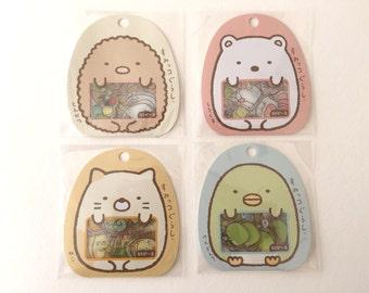 New-Sumikko Gurashi Clear Sticker /Seal bits-Each bag has 10 designs x 5 piece each, 50 pieces in total