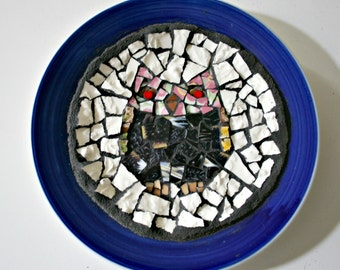 Owl Mosaic Plate - 7 Inches