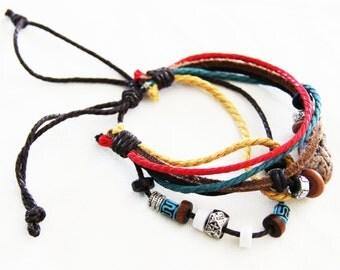 Bohemian Jewelry, Leather Cuffs For Women, Leather Bracelets for Women, Boho Leather Cuff, Women's Gift Idea B003