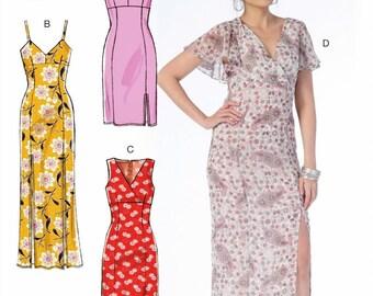 Evening Dress Pattern, Long Straight Dress Pattern, Sheath Dress Pattern, McCall's Sewing Pattern 7161