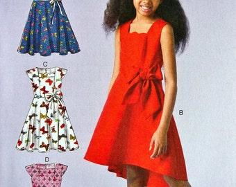 Girls' Dress Pattern - Girls' High Low Dress Pattern - McCall's Sewing Pattern 7180