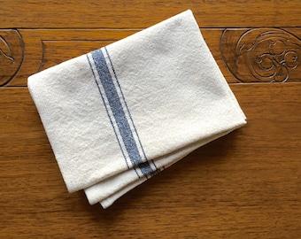 Grain Sack Blue Stripe Kitchen Towel   Grain Sack Tea Towel Grain Sack Bar Towel Grain Sack Hand Towel Grain Sack Towels Grain Sack Dish Rag