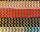 Gold Foil Chevron Ribbon 5/8 width