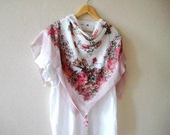 Rose Scarf Pink Shawl Scarf Rose Scarf Spring Fashion Women Accessories Gift For Her