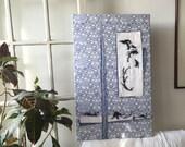 Fiber Art Wall Hanging Textile Wall Art Folk Art - Orient Blue