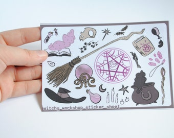 Witchy Workshop Kiss Cut Sticker Sheet