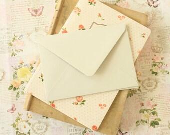 Mushroom Grey vintage series blank C6 envelopes