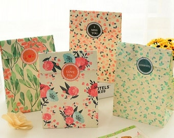 Spring Flowers Floral Paper Bags