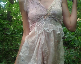 Cinderella dreams mushroom dyed silk dress