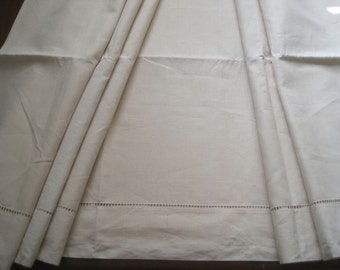 XL vintage French pure linen sheet, hand stitched.  Fabulous bedding, curtain, blind, tablecloth, bedroom decor, upholstery