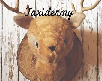 Deer Faux Taxidermy Digital folk art Pattern