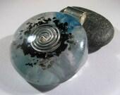 Orgone Pendant - Aquamarine and Blue Topaz