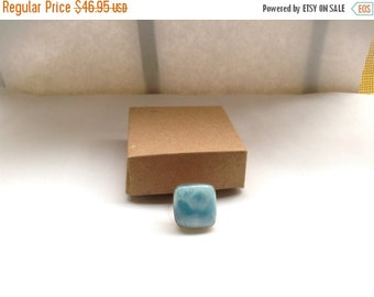 ON SALE Larimar Jewelry Geometry Square Larimar ring size 7 blue Jewelry gifts under 50 sterling silver 925