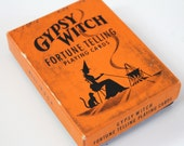 Vintage Gypsy Witch Fortune Telling Playing Cards retro themed deck of Novelty playing cards Fortunes on every card vintage collectible gift