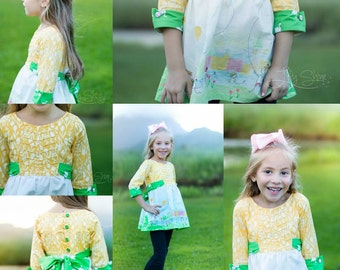 Girls Dress Pattern, Easy Sewing Pattern, Easter Dress, Vintage Dress Sewing Pattern, Easy Girls Pattern, WDW Dress Pattern, Janie Lou Dress