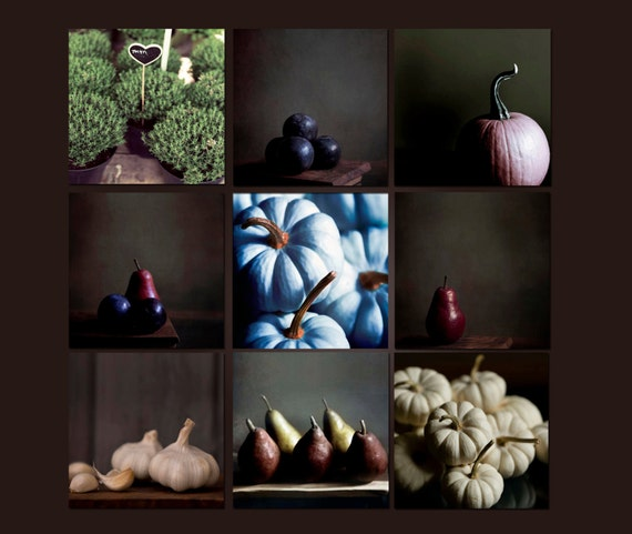 SALE, Food Prints, Rustic Kitchen Decor, Food Photography, Brown, Beige, Kitchen, 9 Photos, Save 60%