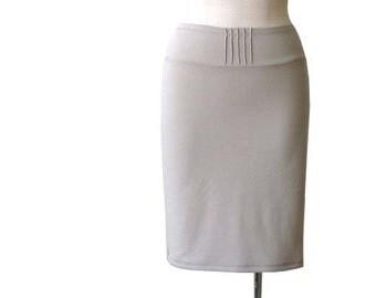 Beige pencil skirt, Everyday Pencil Skirt, Everyday skirt, Basic knee length skirt, Custom pencil skirt, Plus size clothing, Womens skirt