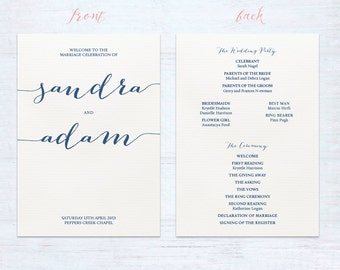 Double sided program cards – Hitched