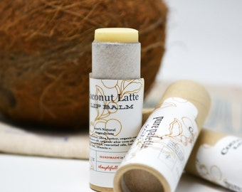 Coconut Latte Lip Balm in Kraft Paper Tube