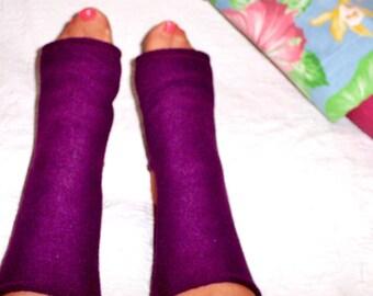 Yoga Socks, Exercise Socks for Yoga, Pilates, Designer Yoga Fleece Socks, Warm Fleece Yoga Sox