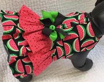 Dog Dress with Double  Ruffle Harness Dress