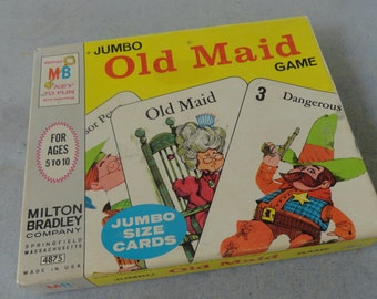 Vintage OLD MAID Card Game 1968 Complete!  Groovy Graphics!