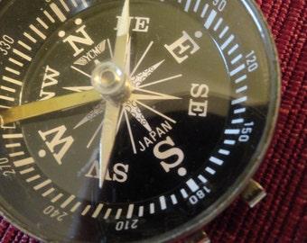 Vintage Compass Locking open face Japan