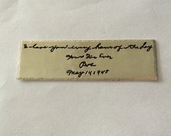 Custom Bookmark- Your Actual Loved Ones Writing Silver Personalized Bookmark Book Marker- Made to Order for you