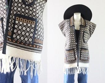 S A L E woven wool saddle blanket vest