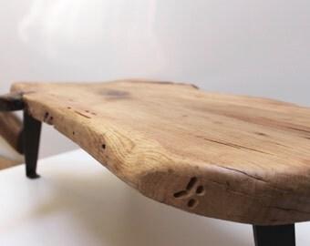 Pecan Coffee Table Live Edge Wood Slab