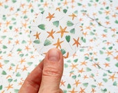 Floral sticker | gift wrapping | stars | Set of 5 | STUDIO KARAMELO