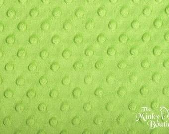 Minky Dot Fabric - Lime