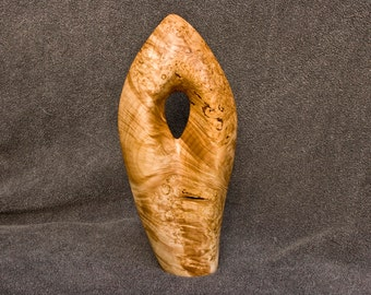 Maple Burl Abstract Art Wood Sculpture 5th Wedding Anniversary Gift Handcrafted in Oregon Special Event Gift Home Decor
